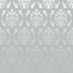 Silver Seamless Damask Pattern