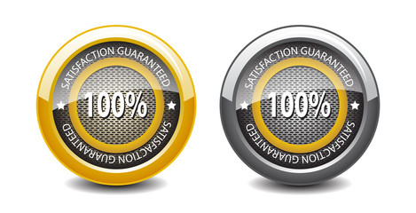 Satisfaction guaranteed glossy buttons-vector