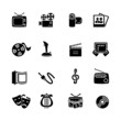 Multimedia computer icon set