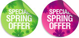Special spring offer stickers set.