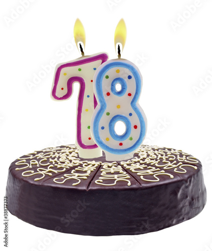 cake with number candles