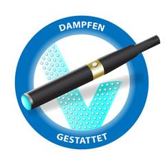 """Dampfen gestattet""  e-cigarette vector"