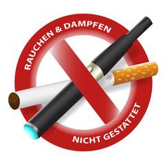 """""""Rauchen & Dampfen nicht gestattet""""  vector"""