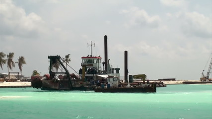 drilling ship for marine construction