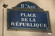 place de la république à Paris 11ièm