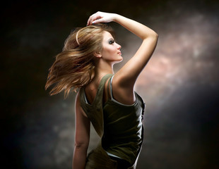 Fashion Dancing Girl. Disco