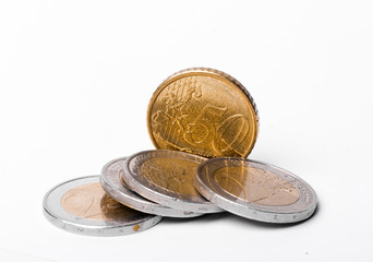 A Handful of Euros and Euro Cents