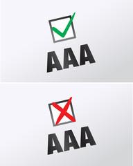 crise du triple A - AAA