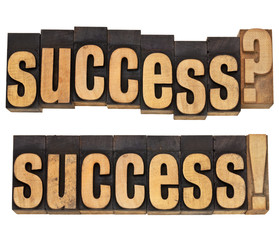 success question and confirmation