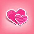 Beautiful pink heart valentine's day, vector illustration