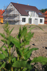 Construction of semi-detached houses in the suburbs