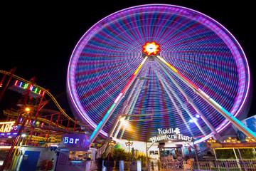 Carnival inthe  amusement park Prater, Vienna, Austria