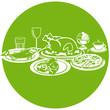 Lebensmittel Symbole