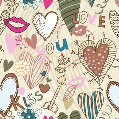 Retro seamless sweetheart pattern