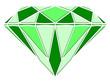 Diamant vert en relief