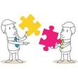 Geschäftsmann, Puzzleteile, Teamwork 1