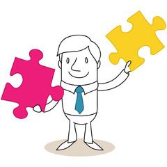 Geschäftsmann, Puzzleteile 1
