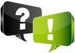 Speech Bubbles Question & Answer Black/Green