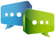 Blue & Green Speech Bubble Communication