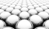 Fototapety Silver reflection balls background 2