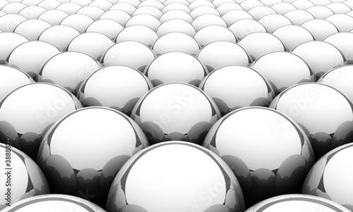 Silver reflection balls background 2 © styleuneed