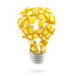 Great idea: shiny and glossy broken light bulb