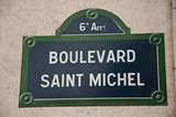 Boulevard st Michel à Paris 6ièm poster