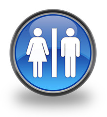 Restrooms Glossy Button