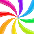 Abstract rainbow twisted stripes background