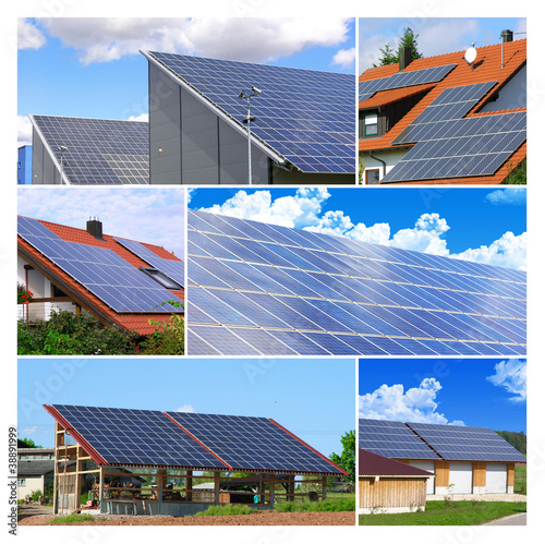Solarzellen - Collage
