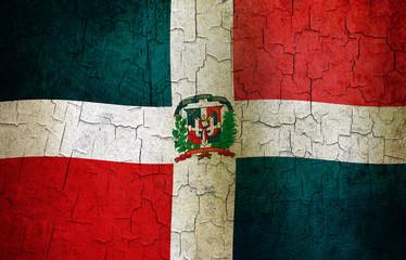 Grunge Dominican Republic flag