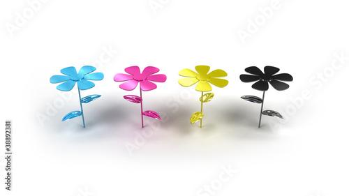 cmyk flower