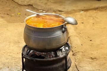 Kochstelle in Afrika