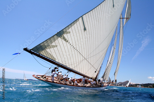 Poster team spirit esprit d'équipe voilier regate mer ocean yachting