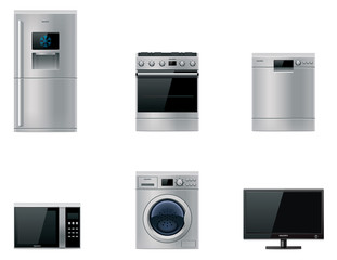 Vector major appliances set