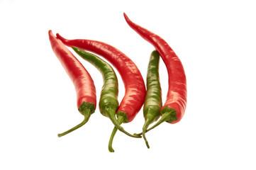 Chilis rot, grün