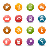Colored Dots - Cleaning Icons