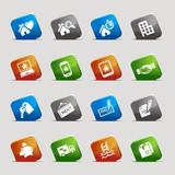 Cut Squares - Real estate icons