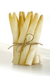 White asparagus with a ribbon