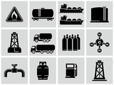Natural gas icons set.