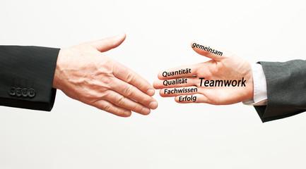 Mit Teamwork  gemeinsam  zum Erfolg