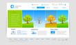 Website template: four seasons