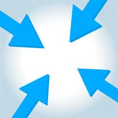 Vector arrow to center