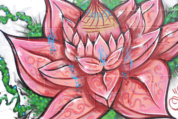 GRAFFITIS, FLORES, ARTÍSTICO