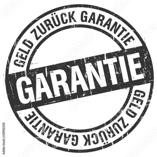 Stempel - Geld Zurück Garantie (I)