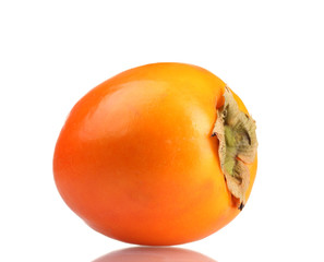 Appetizing persimmon isolated on white