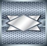 Rhombus metal frame poster