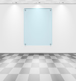 Room with glass placeholder poster