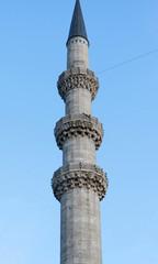 The minaret of Suleymaniye Mosque, Istanbul.