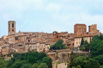 View of the historic Tuscan town of Colle di Val d'Elsa
